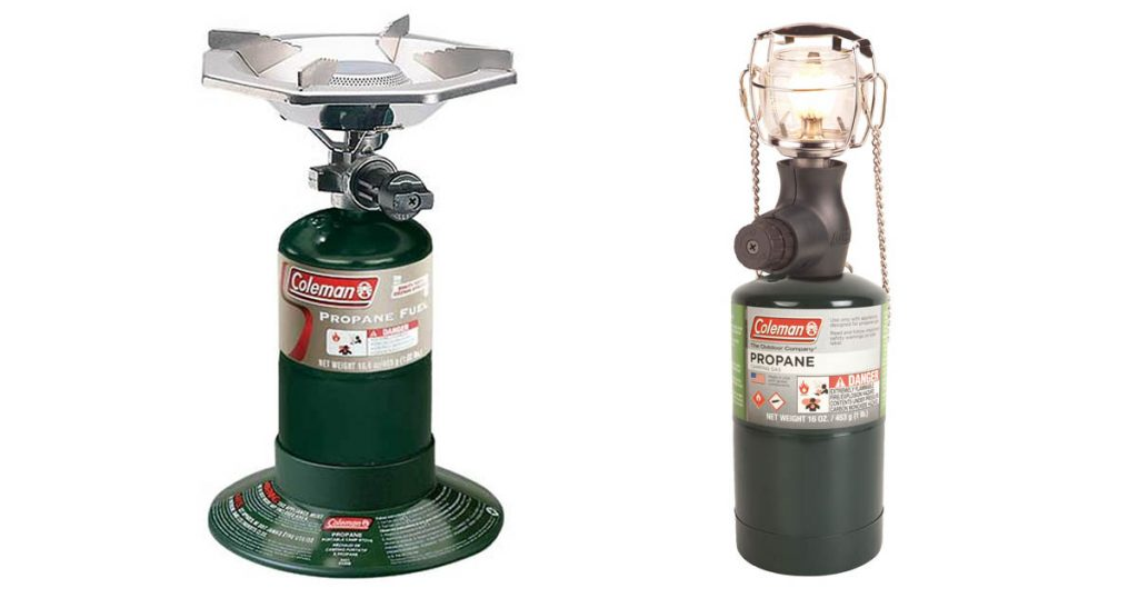 propane lantern and stove