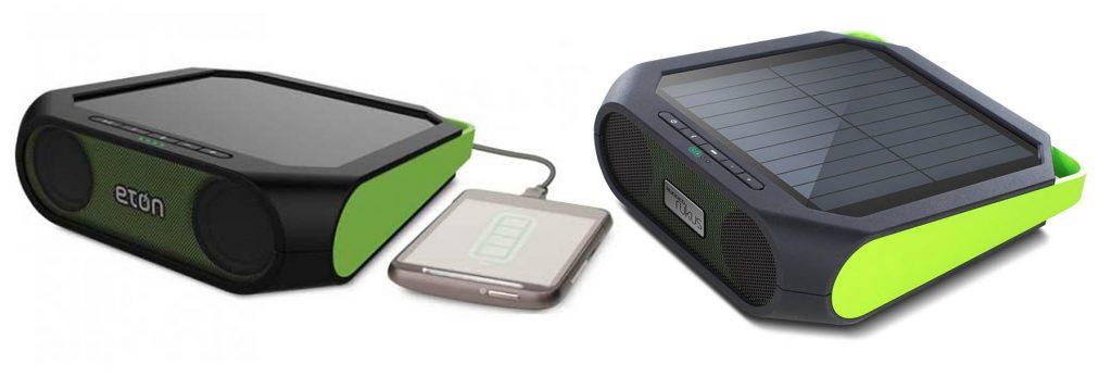 Solar mobile phone speaker