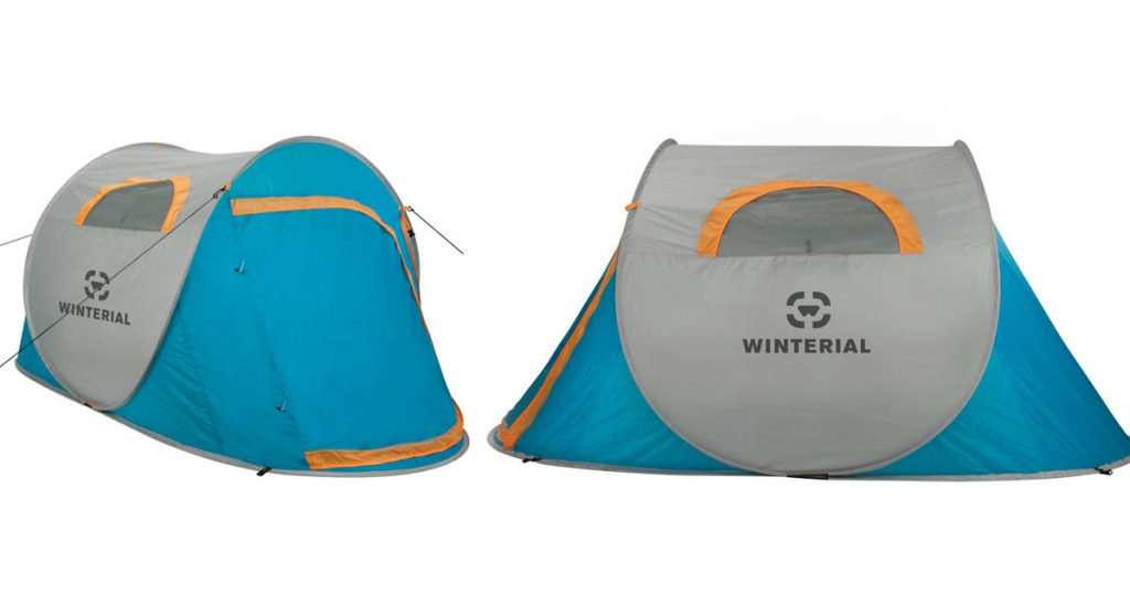 Winterial Pop-up tent with windows