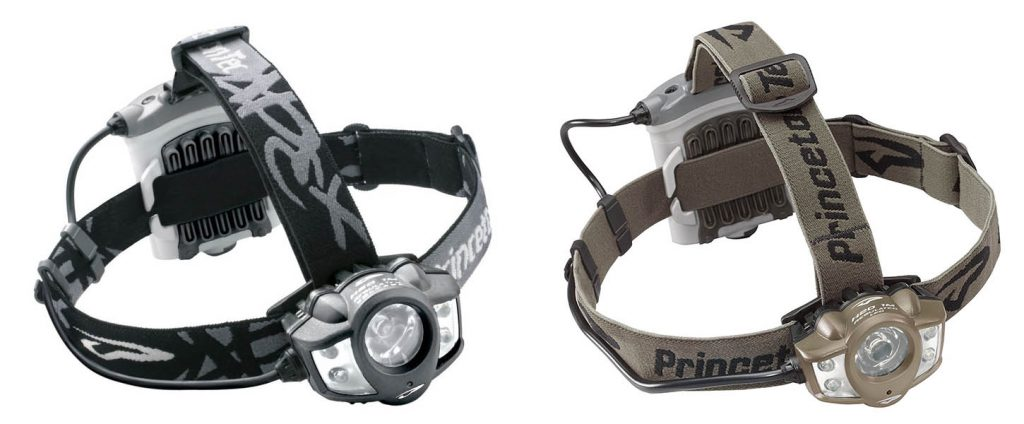 Princeton Tec Apex LED Headlamp in gray and olive